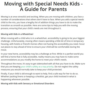 Moving Kids with Special Needs